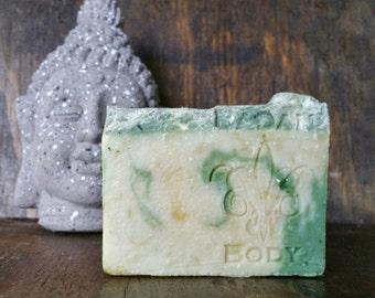 Badan Lumberjack: Fir Needle Pine  & Bayberry Handmade Shea Butter Soap