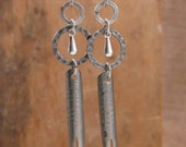 Upcycled Jewelry - Fountain Pen Nib Industrial Style Dangle Earrings - Writer, Blogger, Author