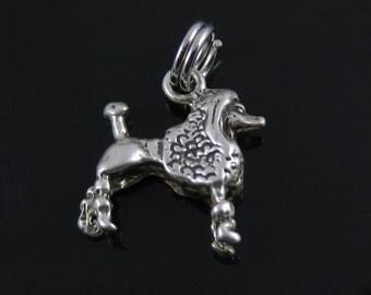 Vintage Sterling Silver Poodle Dog Charm