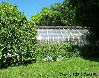 Highland Park Flower Bed Conservatory Side Door Digital Photo