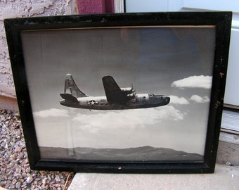 WWII World War II Photograph signed Otto Menge Military Plane Consolidated Vultee Aircraft Corp Lindbergh Field California
