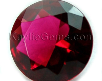 Glass Jewel Round  20mm Faceted Diamond Cut Pointed Back Unfoiled - Rose BR137 - 1pc