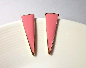 Long Triangle Earrings