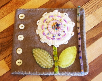 Wool Flower Needlebook Pattern