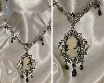 Gothic Victorian Cameo Necklace