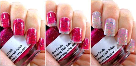 Like this item? - Color Changing Nail Polish Glitter Mood Nail Polish Rose