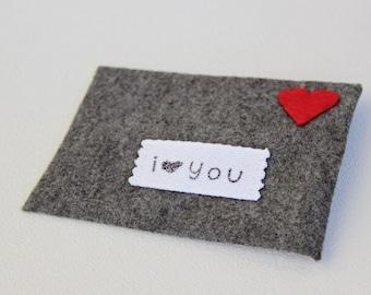 Love Note Felt Envelope