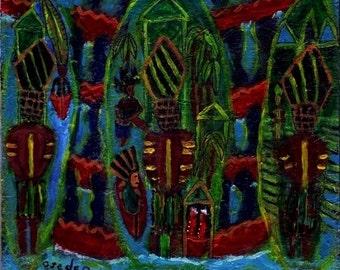 Caribbean Folk Art Etsy