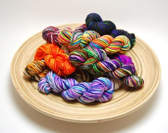 Glam Rock Sparkle Sock Yarn - Mini Skein Yarn Kit - 438 Yards - Superwash Merino Nylon