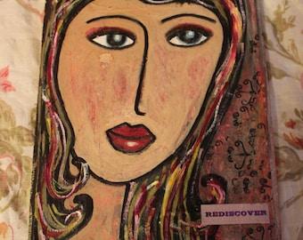folk art paint and decoupage