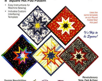 Square Folded Star Hot Pad pattern (PEP102) - PlumEasy Patterns