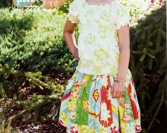 The Stripwork skirt pattern (PFP005) - Pink Fig
