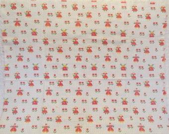 """Vintage Fabric Cotton 31"""" x 34"""" SALE"""