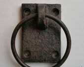 Rustic Cast Iron Single Ring Pull Door Hardware CIRP700F