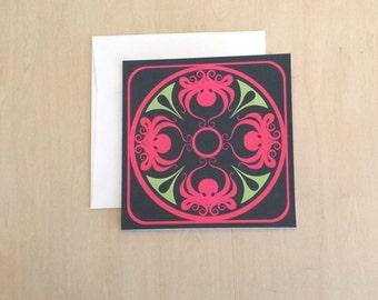 Octopus Medallion - 5x5 Blank Art Card