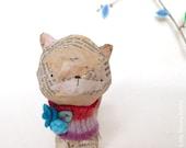 Paper Mache Original- Artwork Original - Mixed Media - OOAK - by Emma Talbot of The Little Brown Rabbit