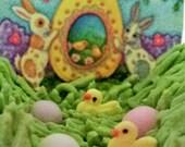Susan Brack's Bunnies Best  small Panoramic Sugar egg