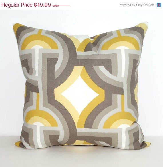Throw Pillows Groupon : Grey Throw Pillow Yellow and Gray Accent Pillow Dwell Studio