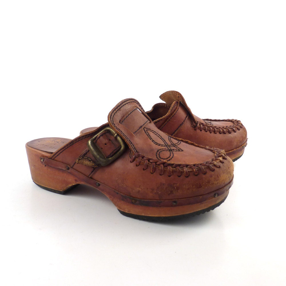 Vintage Wooden Clogs 17