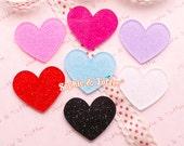 Glitter Hearts Laser Cut Acrylic Pieces (Small Size) | Acrylic Pieces Crafts | Acrylic Pieces for Jewelry - 12pcs