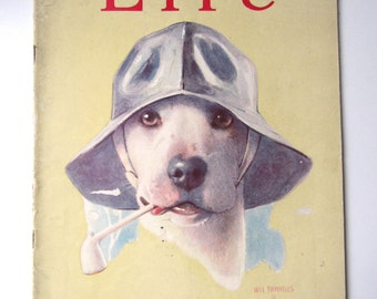 """September 3, 1925 Original Life Magazine with Will Rannells """"Old Sea Dog"""" cover"""