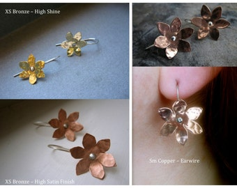 Small Forget-me-not in copper, bronze or sterling