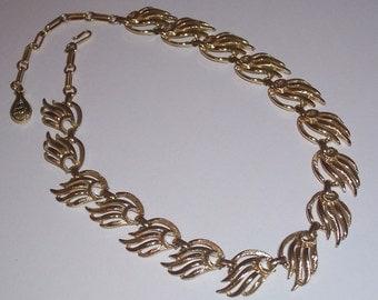 Vintage 1950s CORO Goldtone Necklace