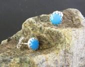 Castle Dome Turquoise Sierra Sterling Post Earrings