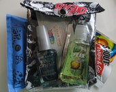 Zombie Survival Kit 4x5 Clear Front Organizer for Cosmetics Personal First Aid Supplies Hand Gel Phone Gear - Walking Dead Fabric