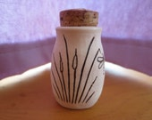 Desert Agave with dragonfly Porcelain Stash Jar Bottle