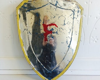 Vintage Odd Fellows Metal Shield with Letter F Becomes Wall Art