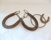 vintage horseshoes, equestrian home decor, vintage home decor, small horseshoes, vintage