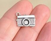 10  Silver Camera Charms SC2930