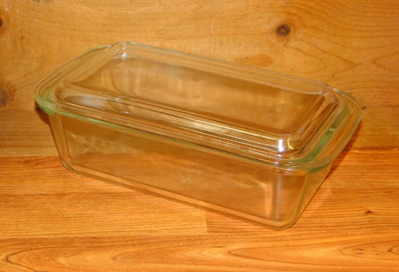 Pyrex Loaf Pan With Lid Vintage Clear 215 B 2 Quart Two Qt
