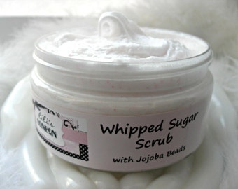 Whipped Sugar Scrub with Jojoba Beads