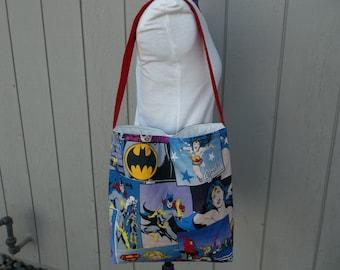 SALE Wonder Woman Bat Girl Super Girl Super Heros Shoulder Bag