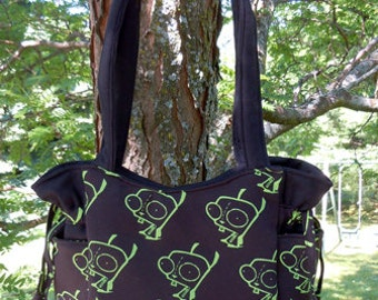 Invader Zim GIR Anime - Handbag, Purse, Tote, Shoulder Bag, Outside Pockets