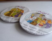 Coasters - Upcycled - SCOOBY DOO comic Recycled into a - Set of Two Coasters