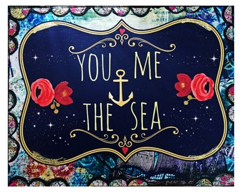 You,Me and the Sea print by Lisa Ferrante
