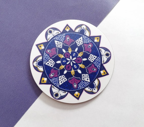 Round Melamine Drink Coaster Set