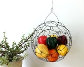 Hanging Wire Sphere Basket Large