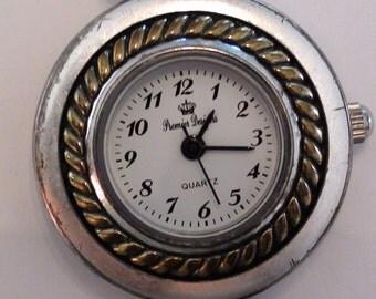 Premier Designs Silver Watch Vintage 1990's Working Bracelet Watch Silver Tone On SaLe Now