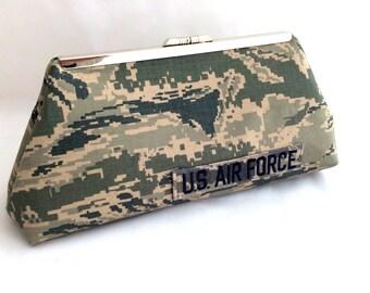 Airforce Clutch Handbag for Military gift Military memorial handbag