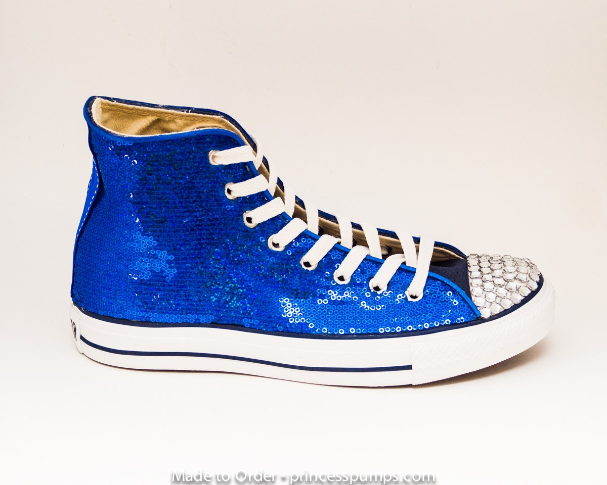 sparkly blue converse