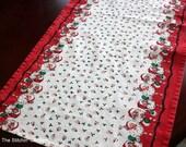 Christmas Table Runner - Retro Santa Print