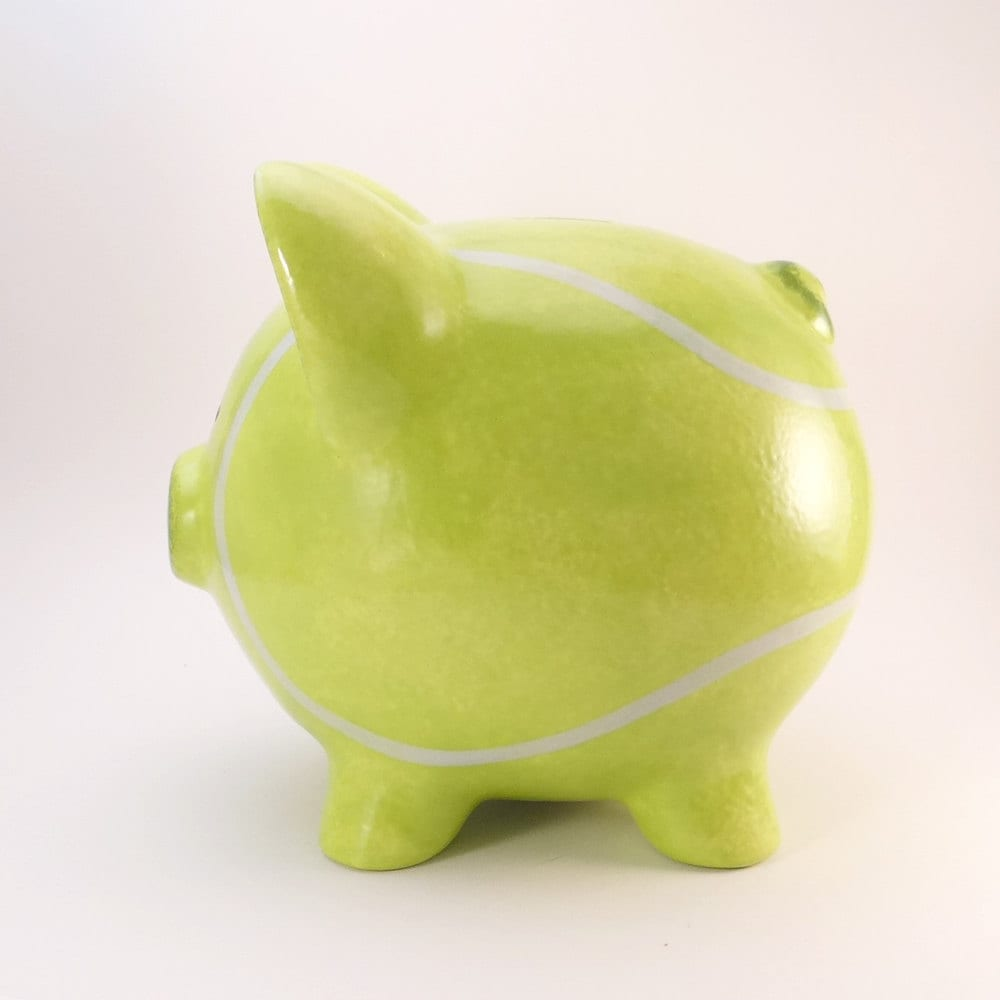 Tennis Ball Piggy Bank Personalized Piggy Bank Tennis Bank