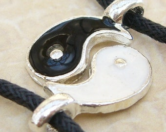 Pair 2 YIN YING YANG Wish Bracelet Set Friendship Best Friends Couples His Hers
