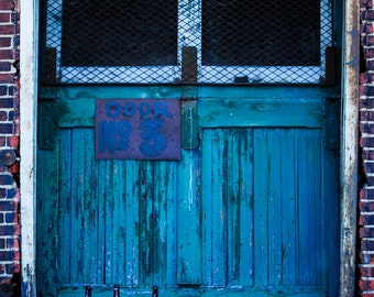 Industrial Door - Strip District - Pittsburgh, PA - Landscape, Modern Photography