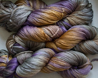 Moonbeam, Hand dyed ribbon yarn, 150 yds - Summer