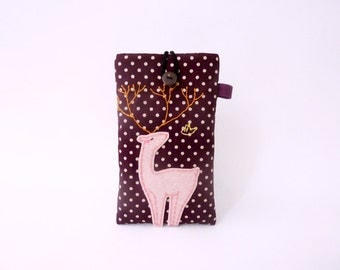 iPhone 5 Case, iPhone 5 Sleeve, iPhone 5 Sleeve, Deer iPhone 5 Case, Fabric iPhone 5 Case, Padded iPhone Case - Woodland Deer